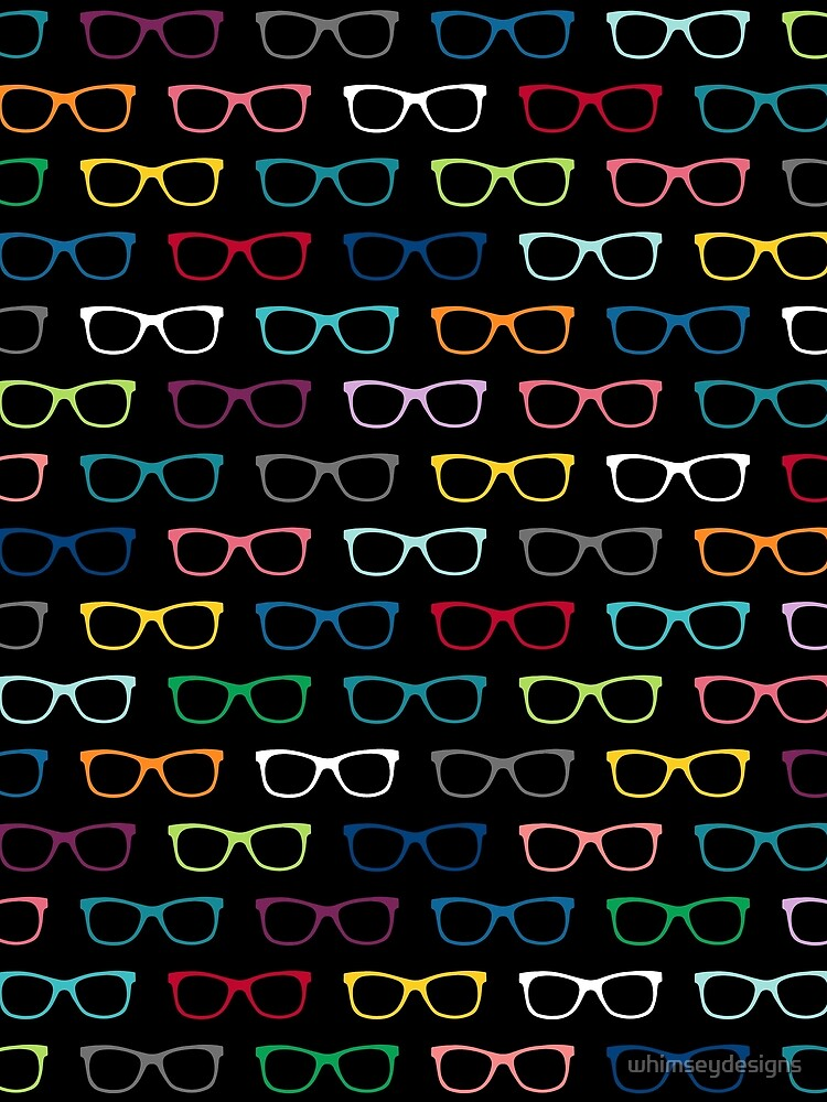Colorful Hipster Eyeglasses Pattern by whimseydesigns