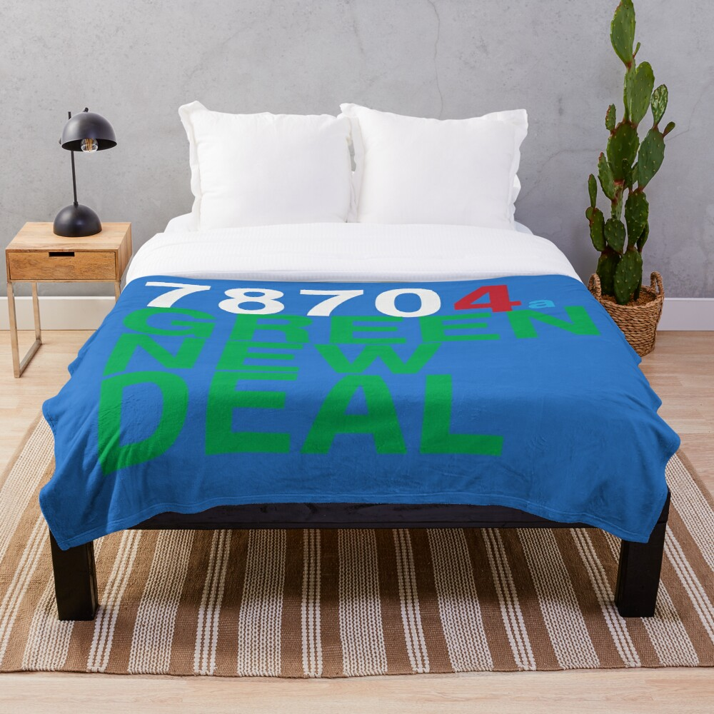 Austin 78704 for a Green New Deal Throw Blanket