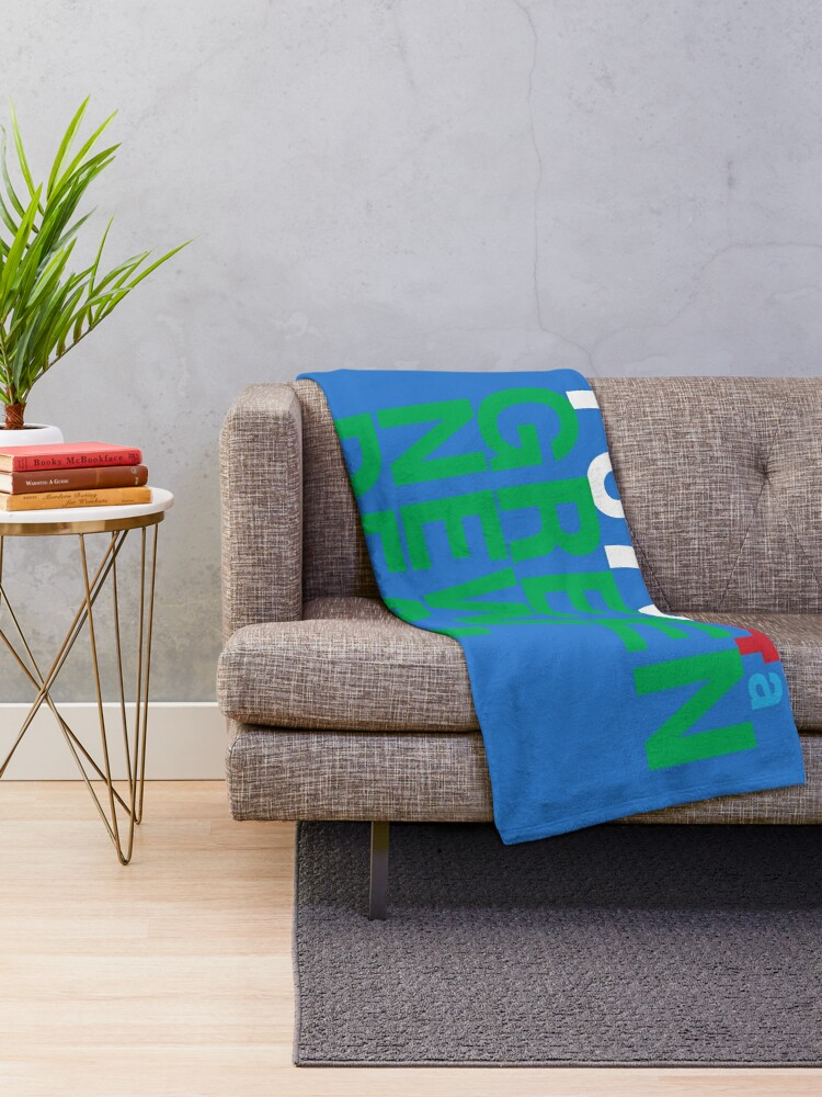 Alternate view of Austin 78704 for a Green New Deal Throw Blanket
