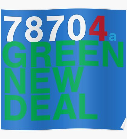 Austin 78704 for a Green New Deal Poster