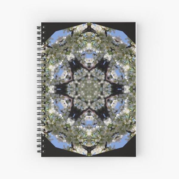 Cherry Blossom Kaleidescope Square Spiral Notebook