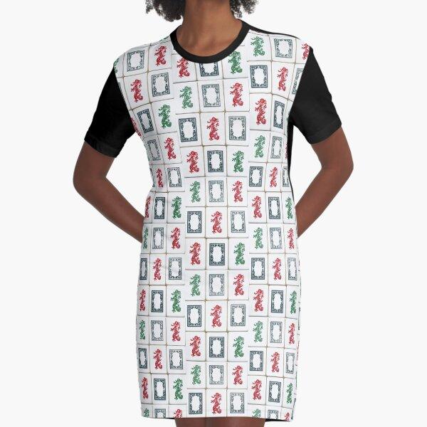 Traditional Dragons of Mah Jongg Graphic T-Shirt Dress