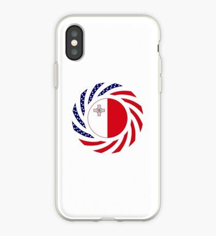 Maltese American Multinational Patriot Flag Series iPhone Case