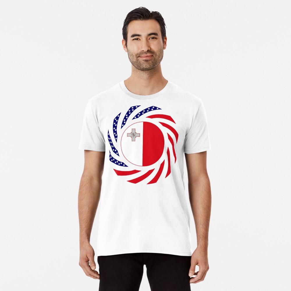 Maltese American Multinational Patriot Flag Series Premium T-Shirt