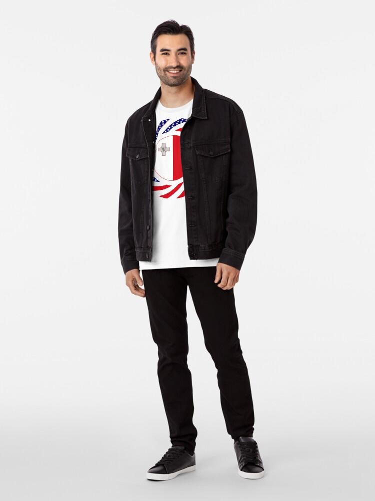 Alternate view of Maltese American Multinational Patriot Flag Series Premium T-Shirt