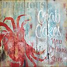 New Orleans Crab Cakes Restaurant Sign by mindydidit