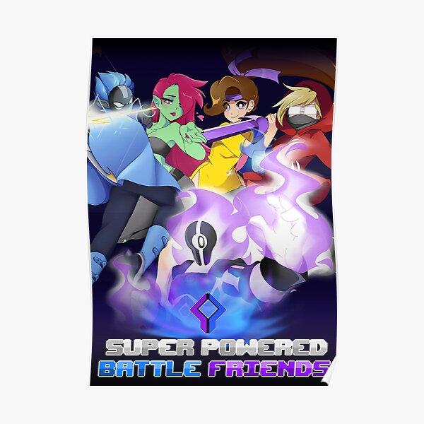 Super Powered Battle Poster Poster