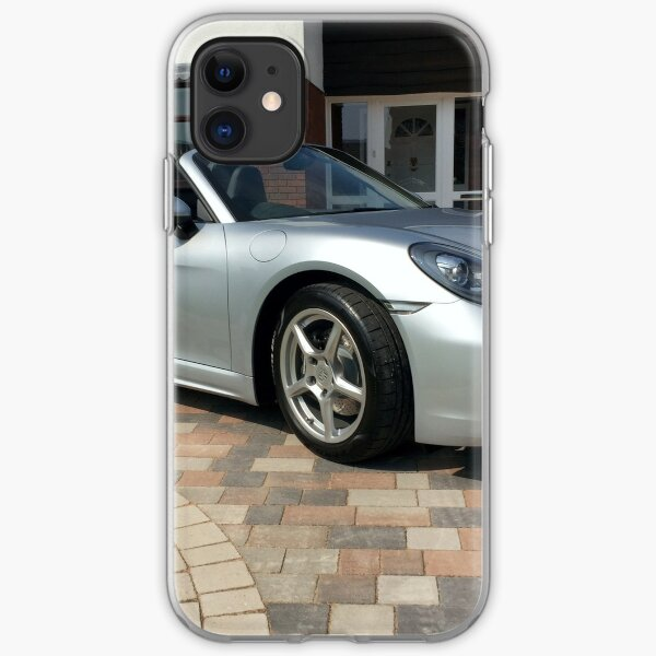 718 Porsche Boxster, front view. iPhone Soft Case