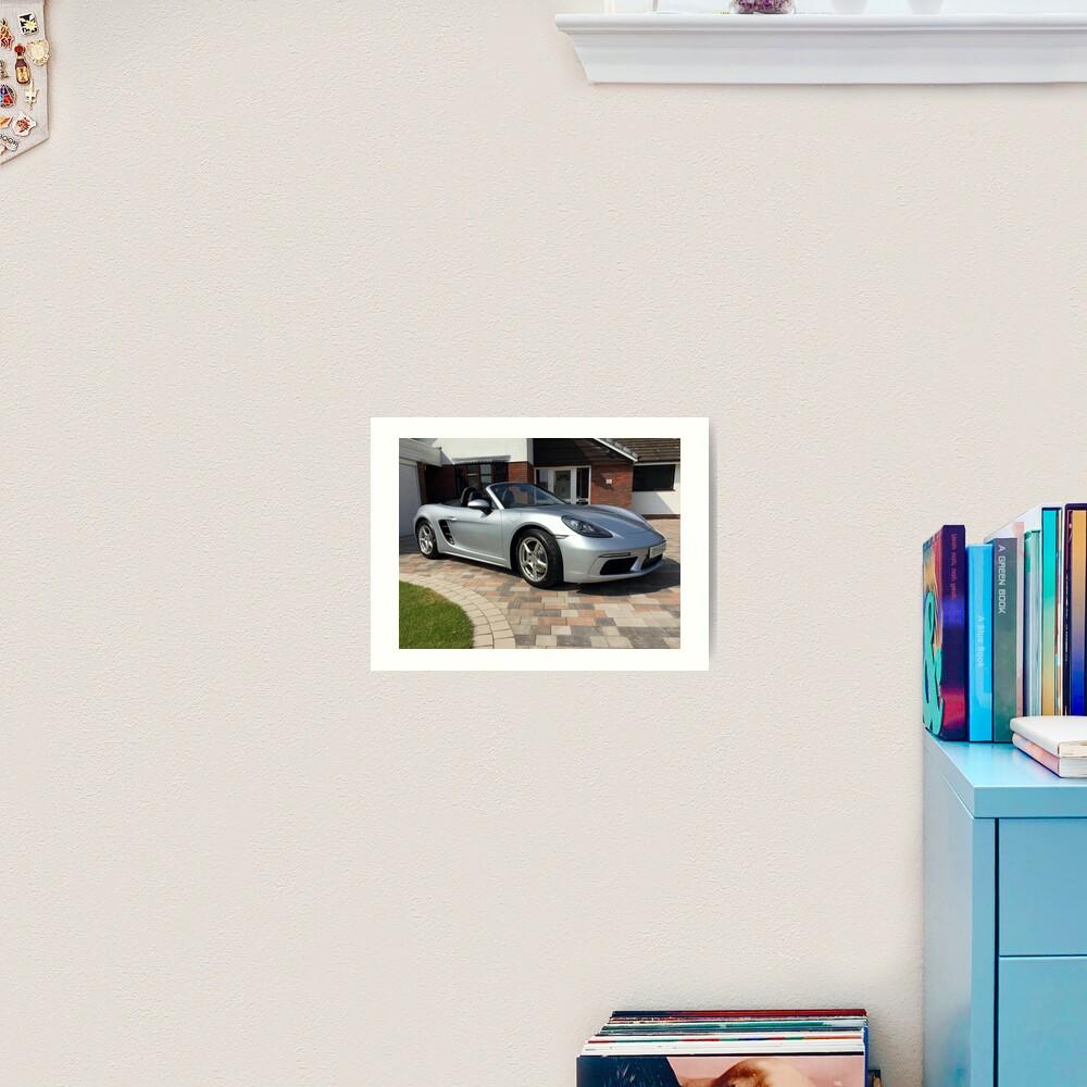 718 Porsche Boxster, front view. Art Print