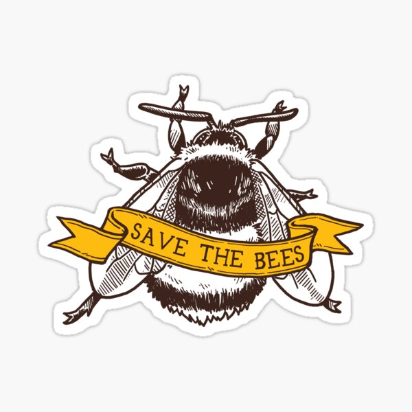 Save The Bees! (Bumblebee) Sticker