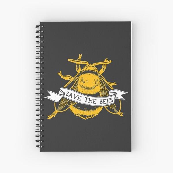 Save The Bees! (Dark Bumblebee) Spiral Notebook
