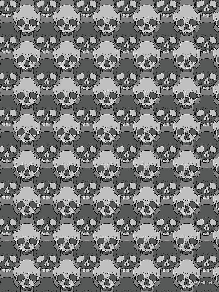 Greyscale Skulls by cevarra