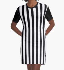 Schwarz / Weiß gestreiftes Kleid T-Shirt Kleid