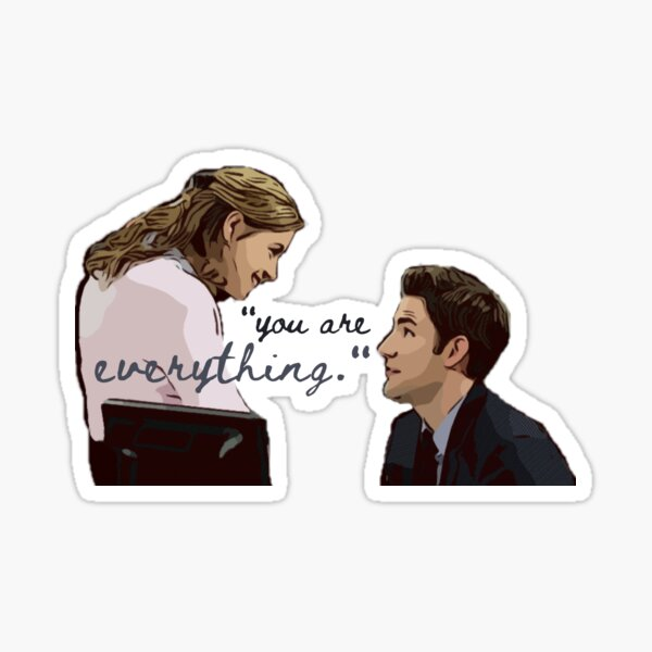 jim and pam you are everything  Sticker