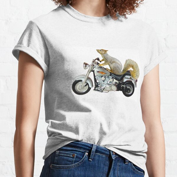 Squirrel on Motorcycle Classic T-Shirt