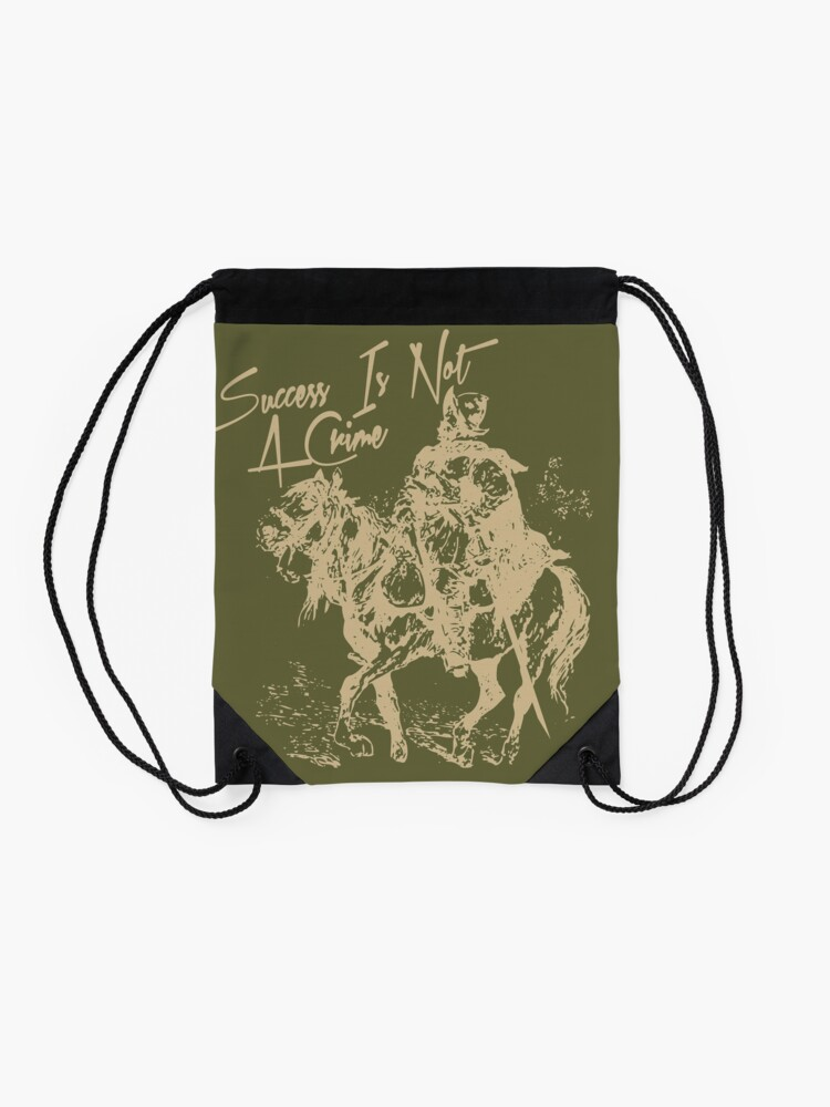 Alternate view of Success Is Not A Crime Drawstring Bag