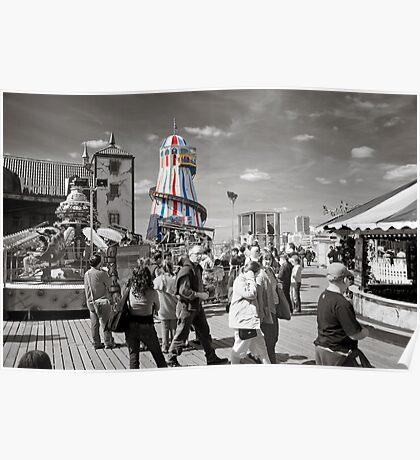 Fun on Brighton Pier Poster