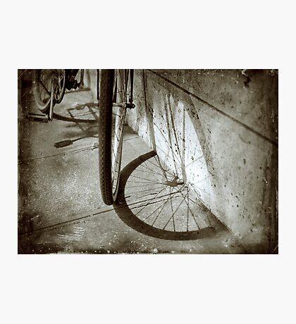 Wheel shadow Photographic Print