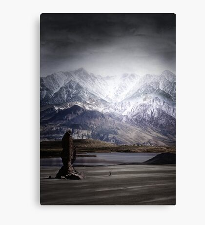 Imaginary landscapes: The wanderer Canvas Print