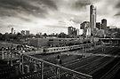 Melbourne Rail by Christine Wilson