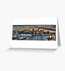 Sydney Moods (20 Exposure HDR Panorama) - The HDR Experience Greeting Card