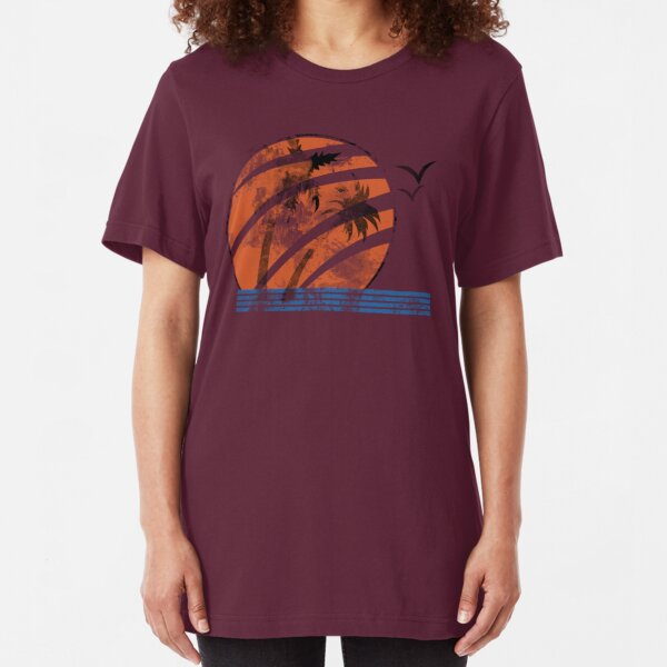 Scarred Sunset Slim Fit T-Shirt