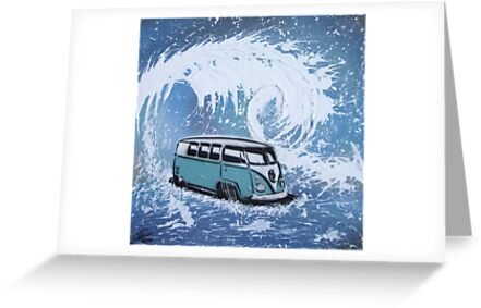 Splitty Wave 01 Painting by yeomanscarart