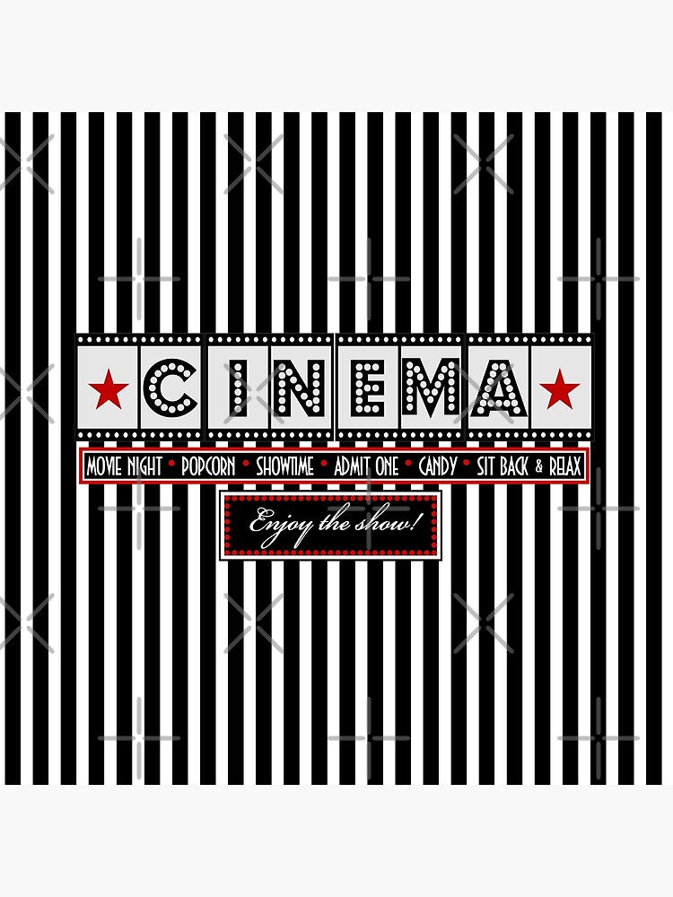 Teatro cine Striped Cinema Ticket Cojines de littlebeane