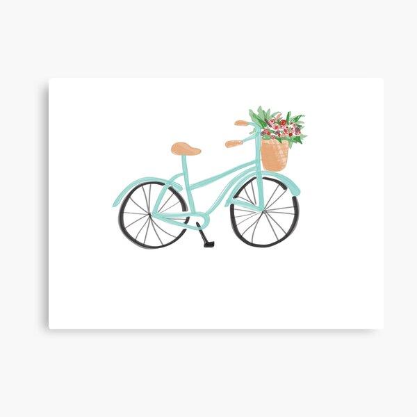 Baby Blue Fahrrad Leinwanddruck