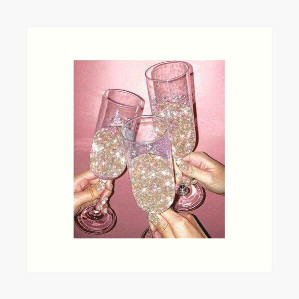 Sparkly Champagne Art Print
