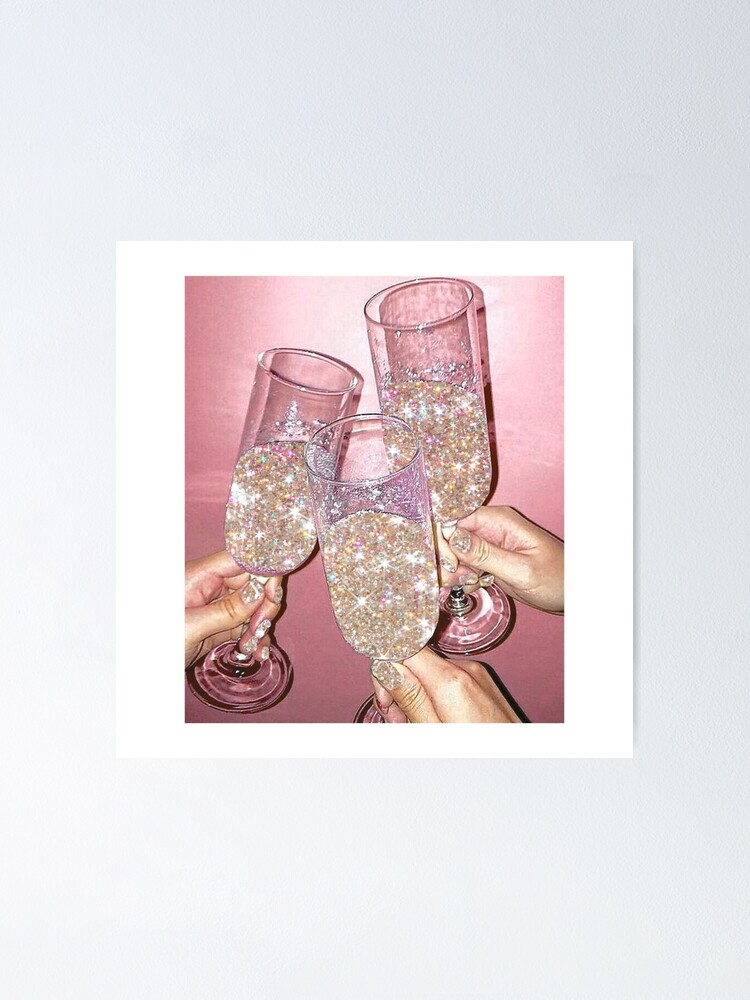 Alternate view of Sparkly Champagne Poster