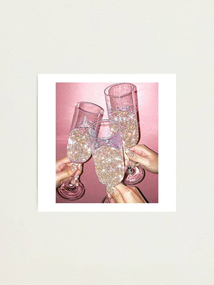 Alternate view of Sparkly Champagne Photographic Print