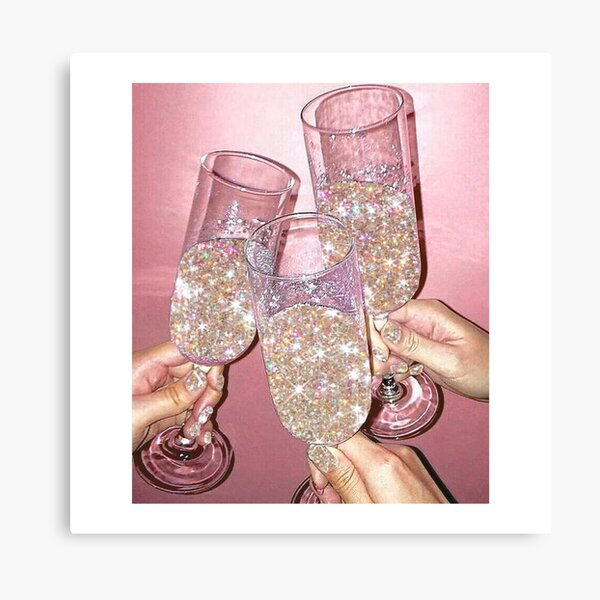 Sparkly Champagne Canvas Print