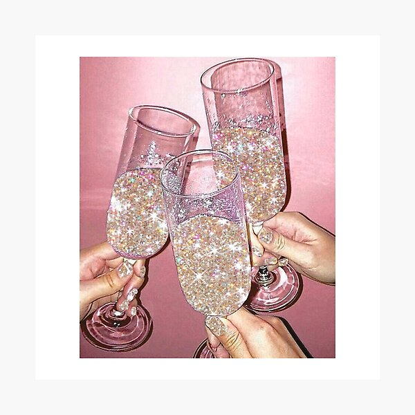 Sparkly Champagne Photographic Print