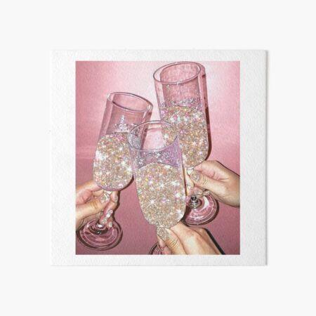 Sparkly Champagne Art Board Print