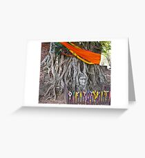 Buddha in the Banyan Tree Greeting Card