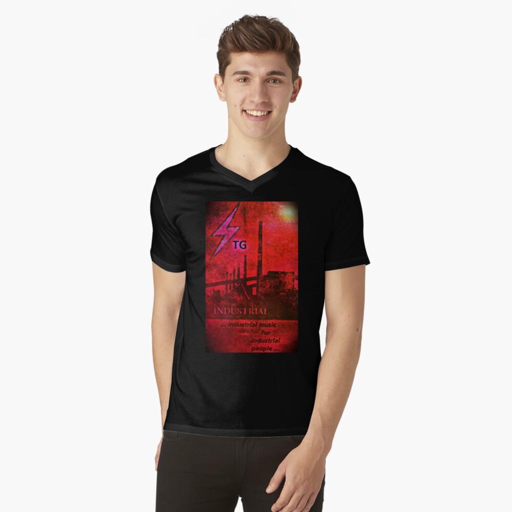 Pochendes Knurren T-Shirt mit V-Ausschnitt