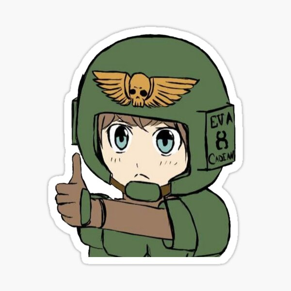 Thumbs Up Cadian Guardsmen | Warhammer 40k Sticker