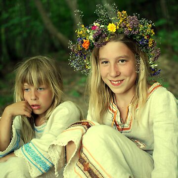 smile two Ukrainian girls by donemonic