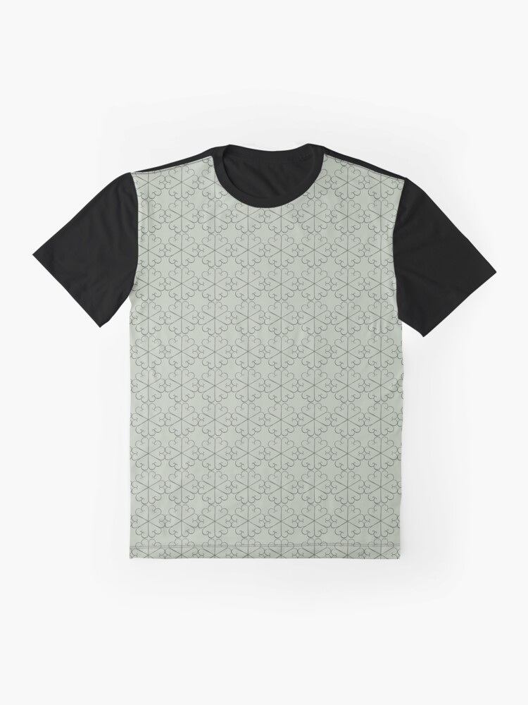 Alternate view of Metal Flowers small design for orchid fabric Graphic T-Shirt