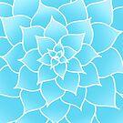 «Flor suculenta abstracta azul» de julieerindesign