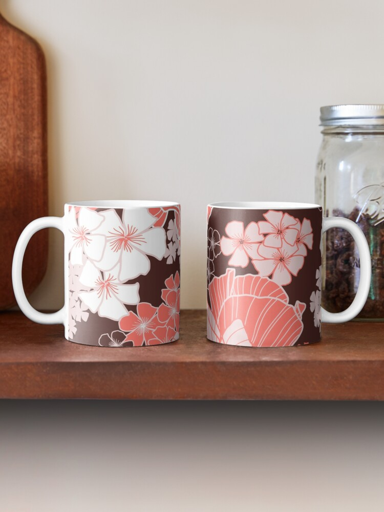 Alternate view of Coral Poppies Mug