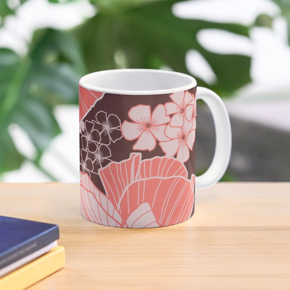 Coral Poppies Mug