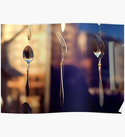 spoon and fork Poster