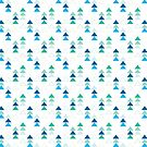 Geometric Triangles in Blue and Gree by denisecolgs