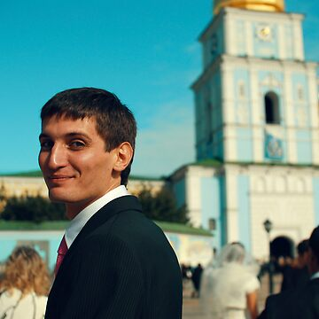 Portrait of a guy in the background of St. Sophia's Cathedral by donemonic