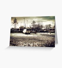 Snowy Engry Greeting Card