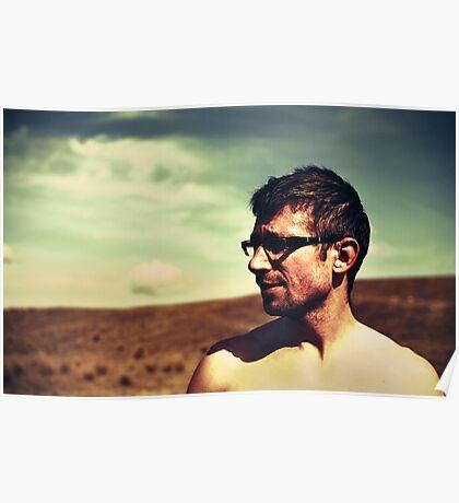 guy in glasses Poster