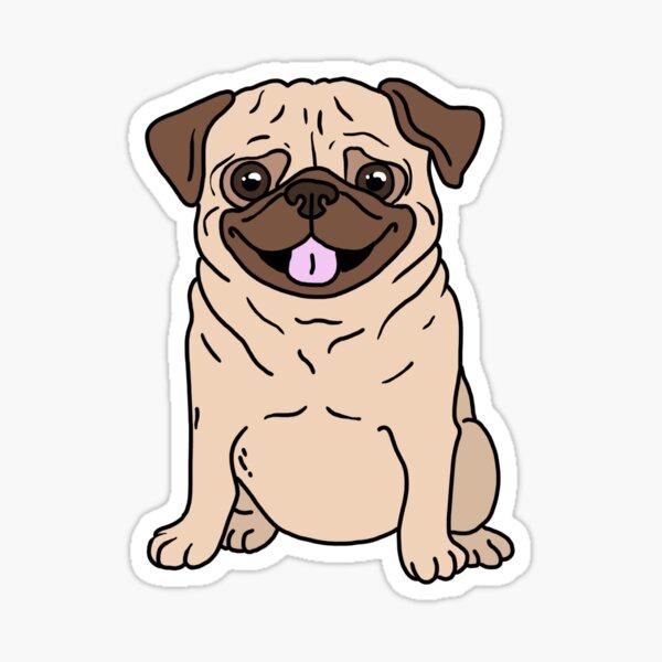 cute pug sticker Sticker