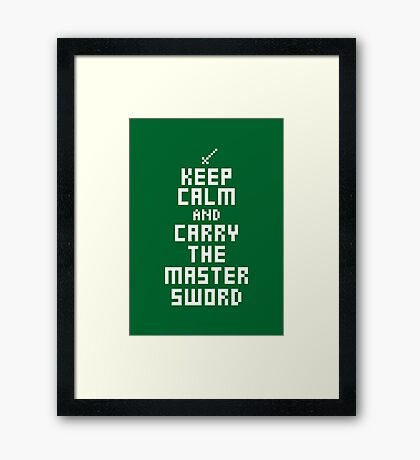 Keep Calm and Carry on Gaming7 Framed Print